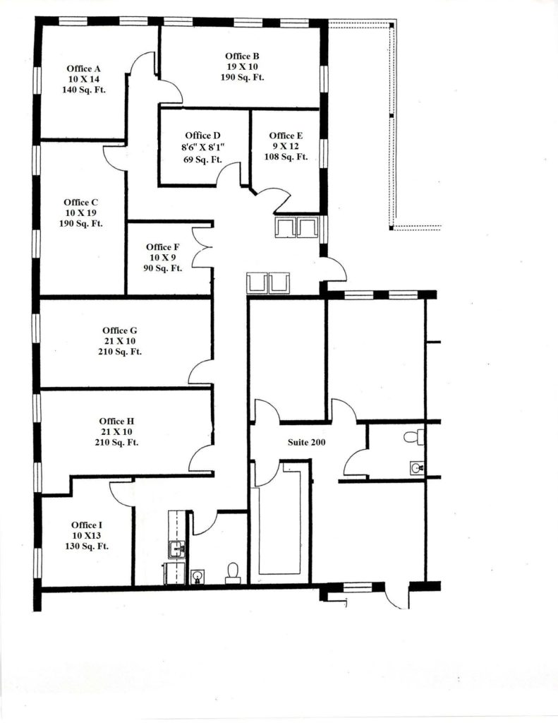 Exceptionnel EXECUTIVE SUITES   Floor Layout   New Text, Rounded Dimensions