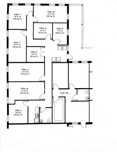 EXECUTIVE SUITES - Floor layout - New text, rounded dimensions