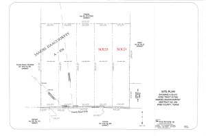 Lot Layout from Arrow Surveying - with Sold 2015-04-09